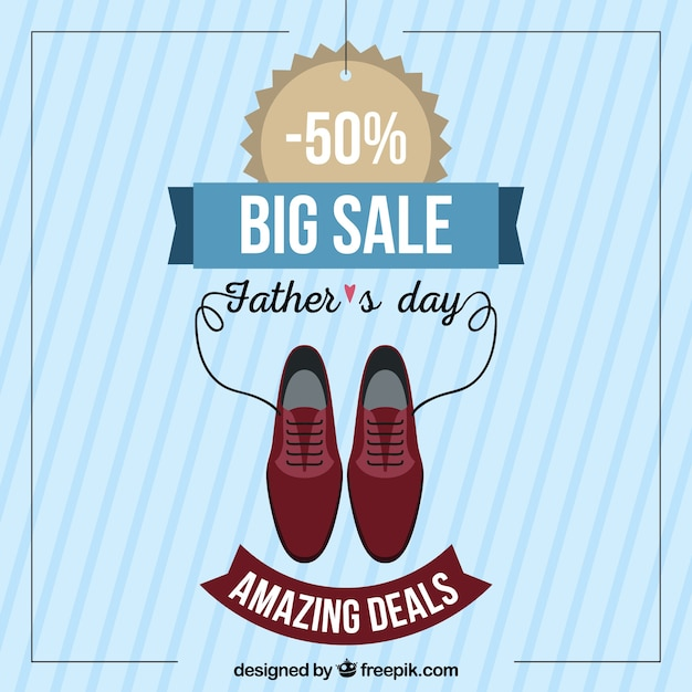 631a74640bae8 Father s day sale template with clothes elements Free Vector