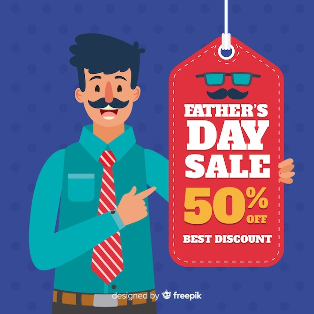 Father's day sales Free Vector