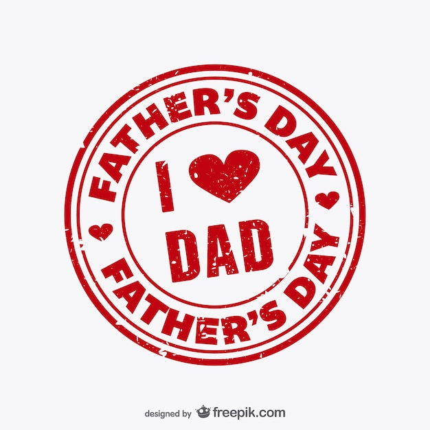 Father's day stamp Free Vector