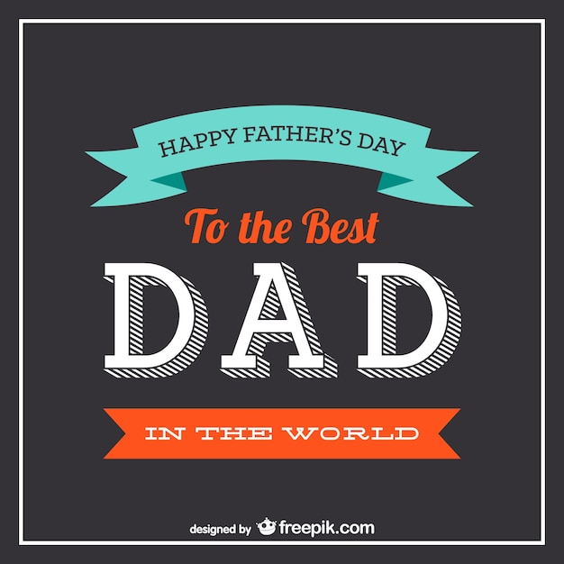 father s day typography vector vector free download
