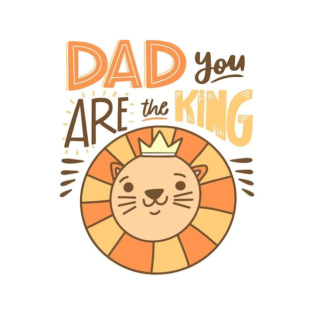 Festa del papà con corona Vettore gratuito