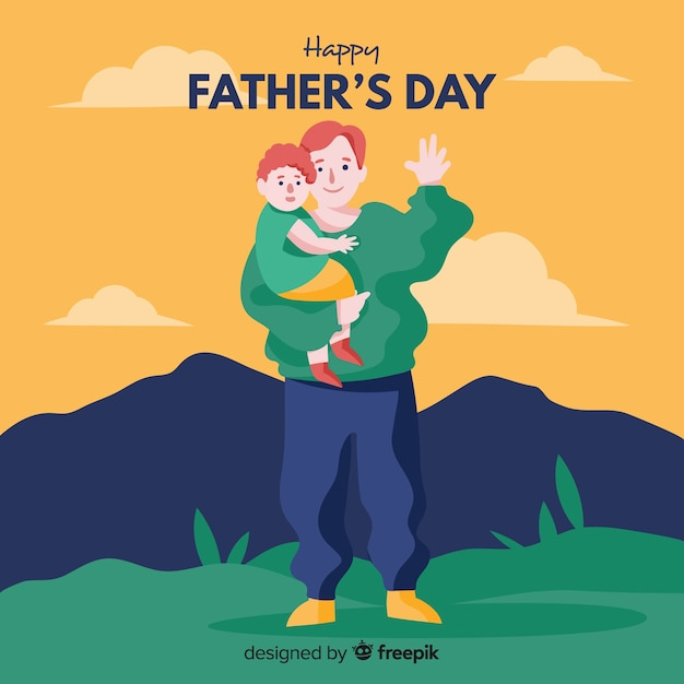 Father's day Free Vector