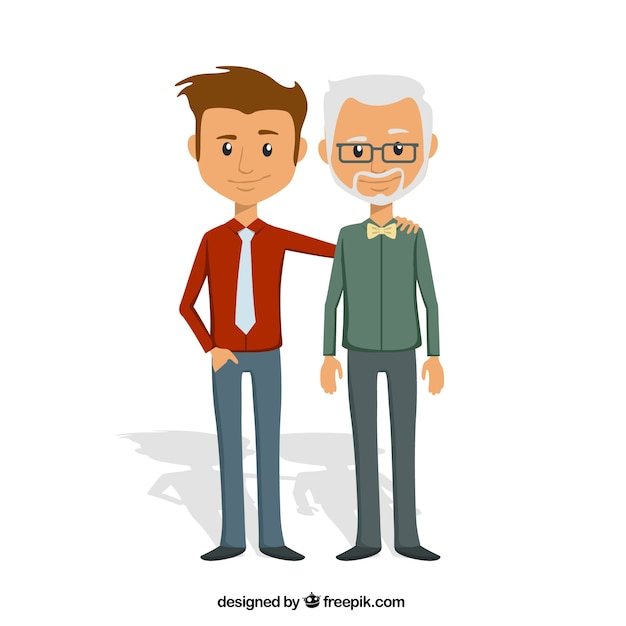 Father and son Premium Vector