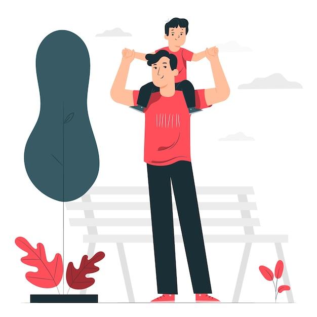 Illustrazione di concetto di paternità Vettore gratuito