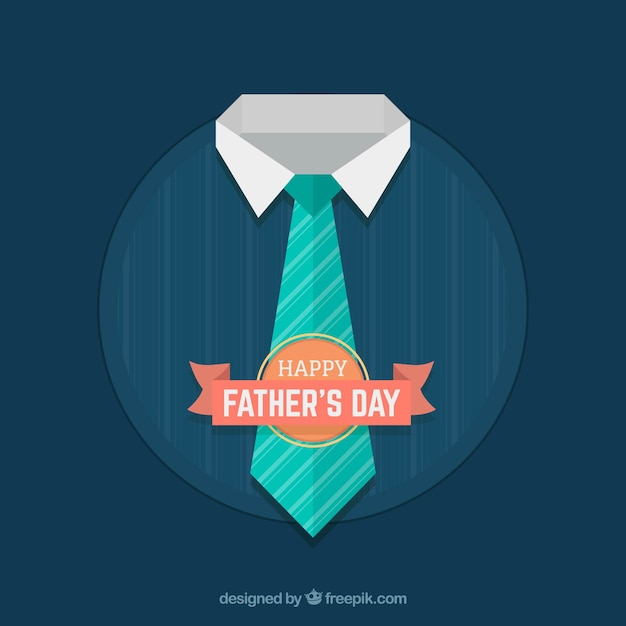 Fathers day background with tie Free Vector