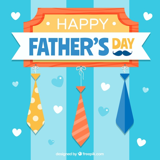 Fathers day background with ties