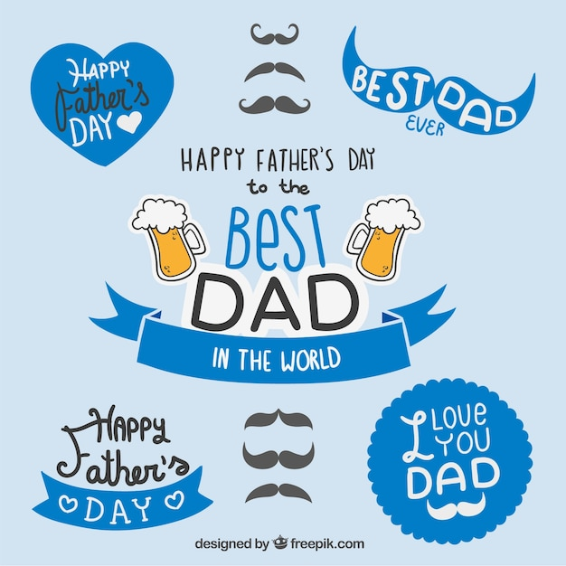 Fathers day badges