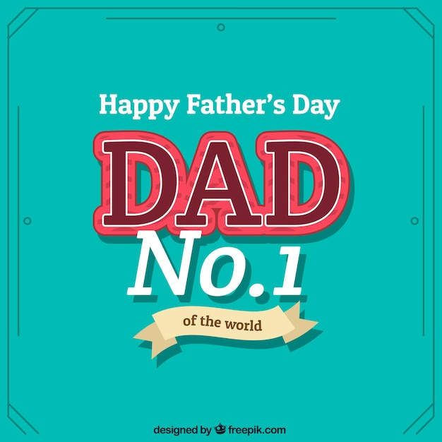 Fathers day card in typographical style
