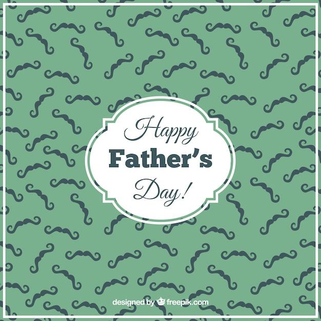 Fathers day card with mustaches