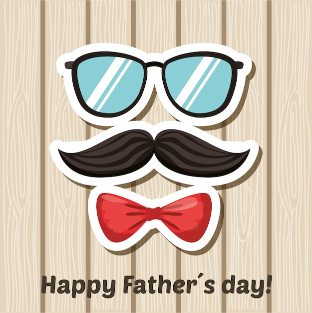 Fathers day card Premium Vector