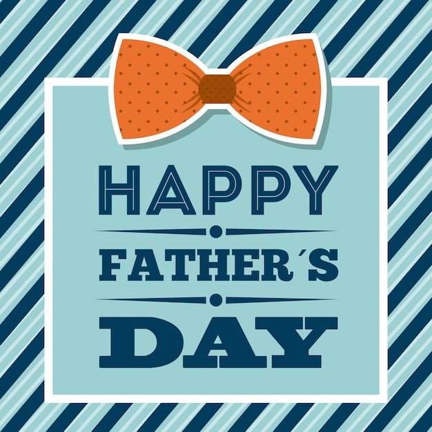 Fathers day design over blue background vector illustration Premium Vector