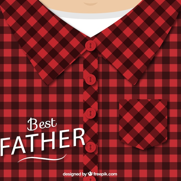 Fathers day design with checked shirt Free Vector