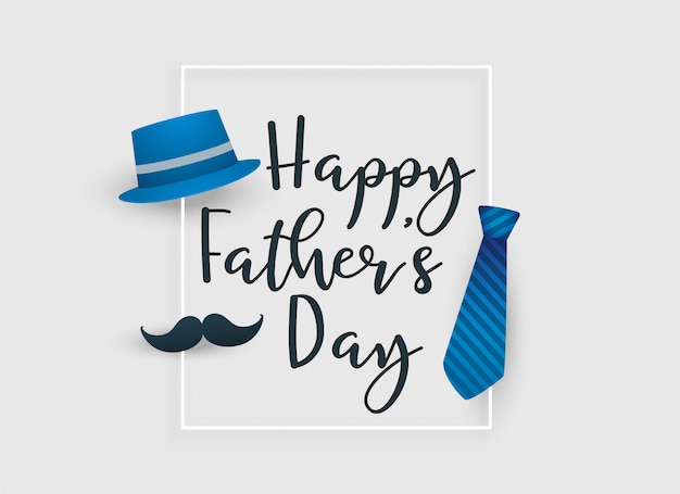 Fathers day greeting card Free Vector