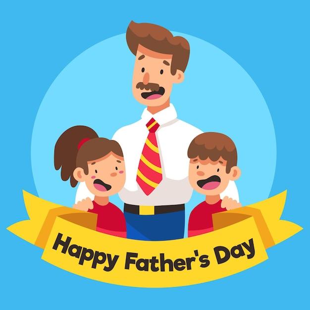 Festa del papà illustrata Vettore gratuito