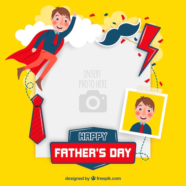 fathers day template to paste image vector free download