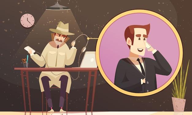 偽電話探偵作曲 無料ベクター