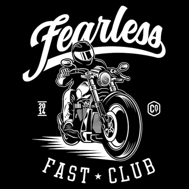 Fearless moto Premium Vector