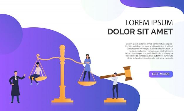 Federal law presentation  illustration Free Vector