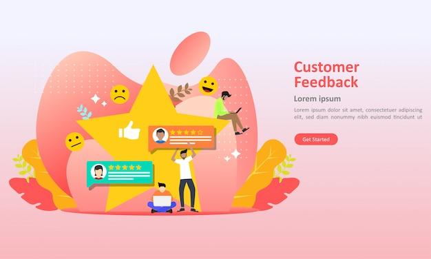 Feedback review concept design vector illustration Premium Vector