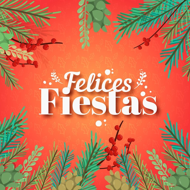 Felices fiestas scritte Vettore gratuito
