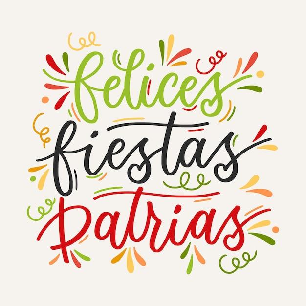 Felices fiesta patrias - надписи Бесплатные векторы