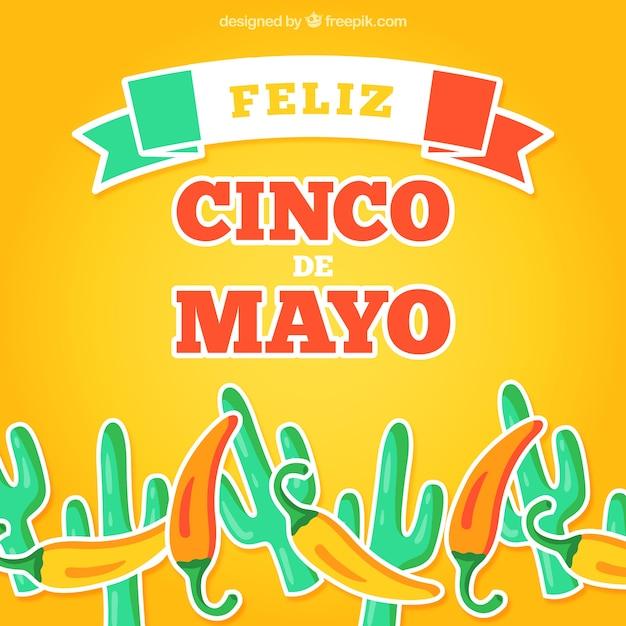 Feliz cinco de mayo background Vector | Free Download