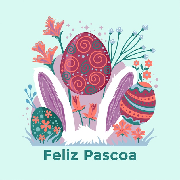 Feliz pascoa illustration Premium Vector