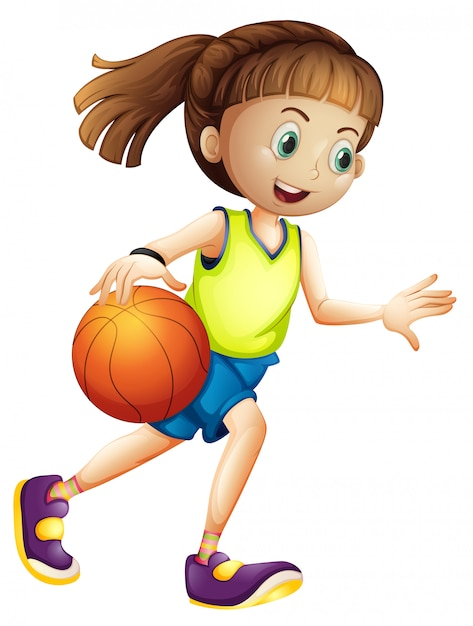 Female basketball player character Free Vector
