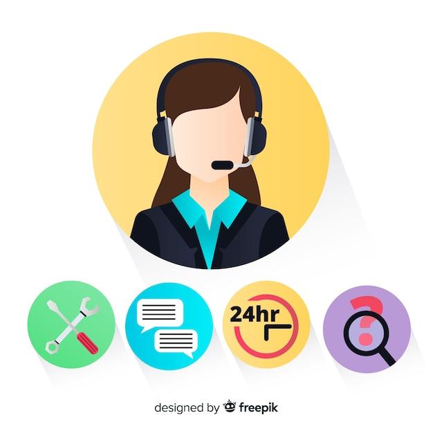 premium vector female call center agent https www freepik com profile preagreement getstarted 3148463