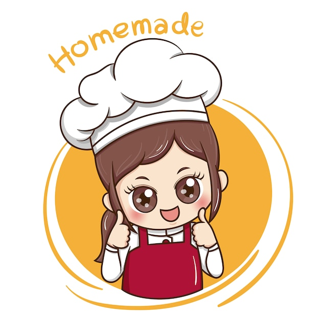 Female chef Premium Vector