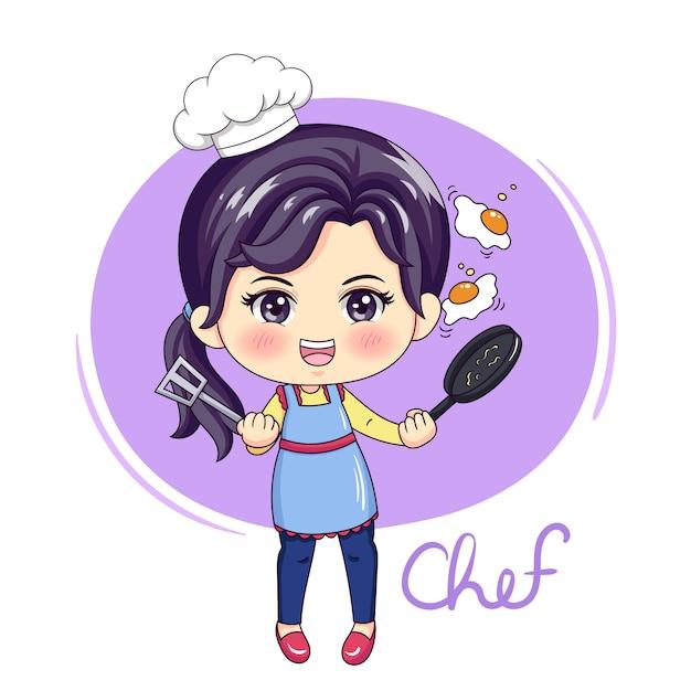 Female chef Premium Vector