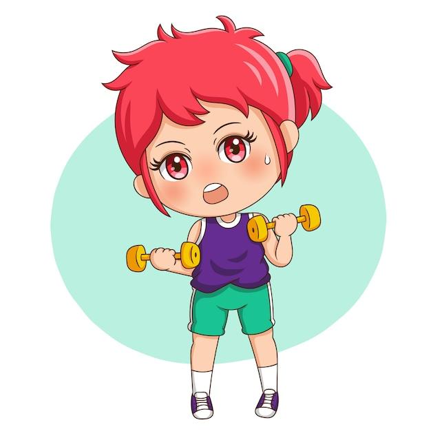 Female exercise Premium Vector