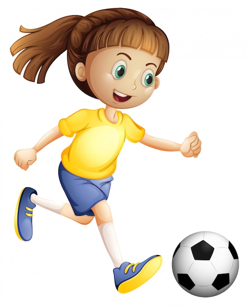A female football character Free Vector