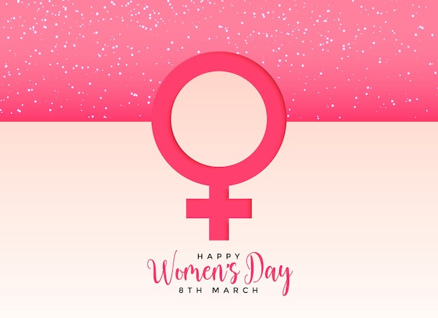 Female Gender Symbol On Beautiful Pink Background Vector Free Download