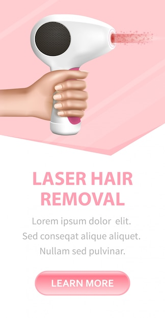 Female hand holding modern working laser epilator Premium Vector