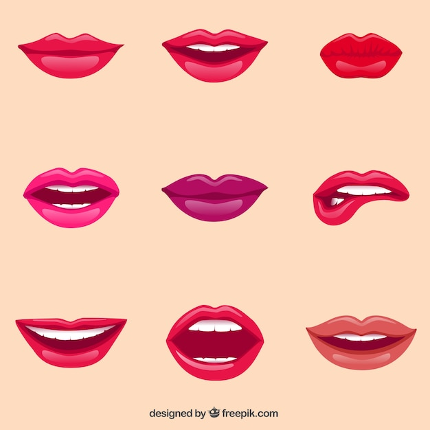 Female lips Free Vector