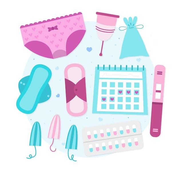 Illustrazione del sistema riproduttivo femminile Vettore gratuito