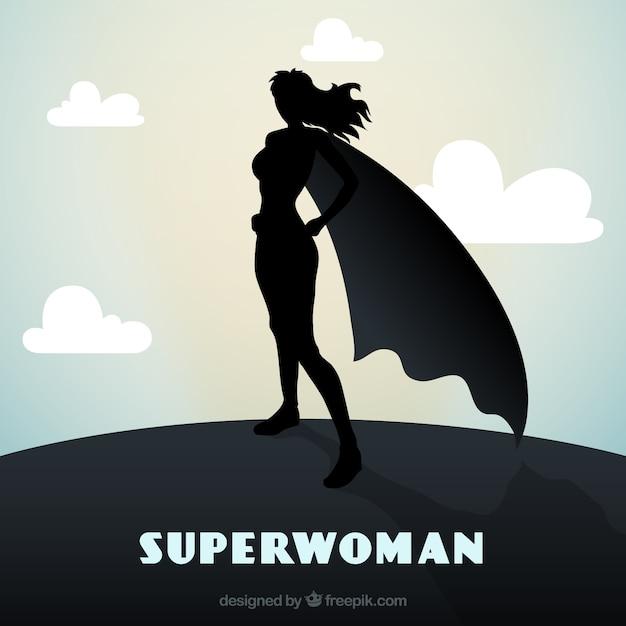 Female superhero Free Vector