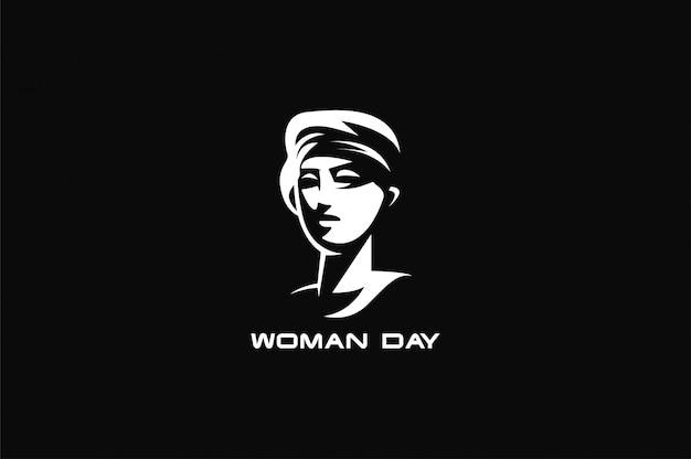 Female symbol with female face Premium Vector
