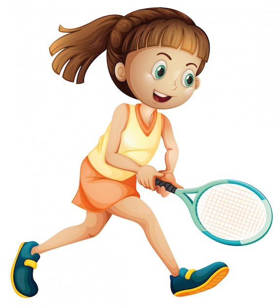 A female tennis athlete Premium Vector