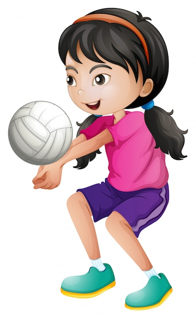 A female volleyball player Free Vector