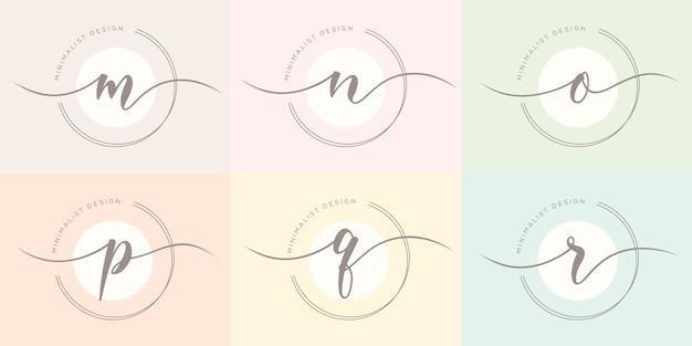 フェミニム文字のロゴのテンプレート Premiumベクター