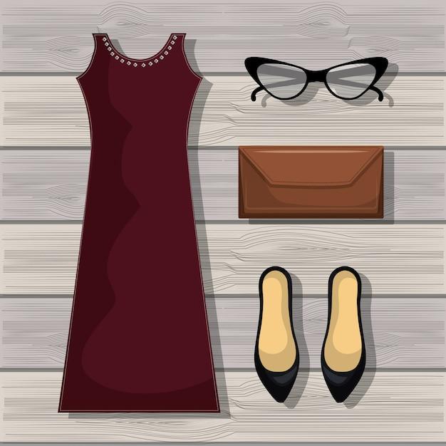 Feminine fashion design Premium Vector