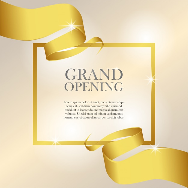 Feminine Grand Opening Invitation Template Vector