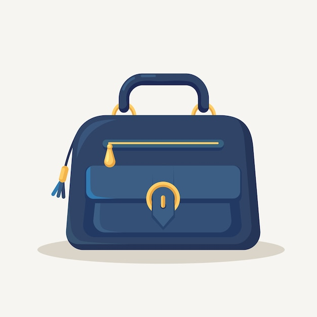ショッピング、旅行、休暇のためのフェミニンなハンドバッグ。 Premiumベクター
