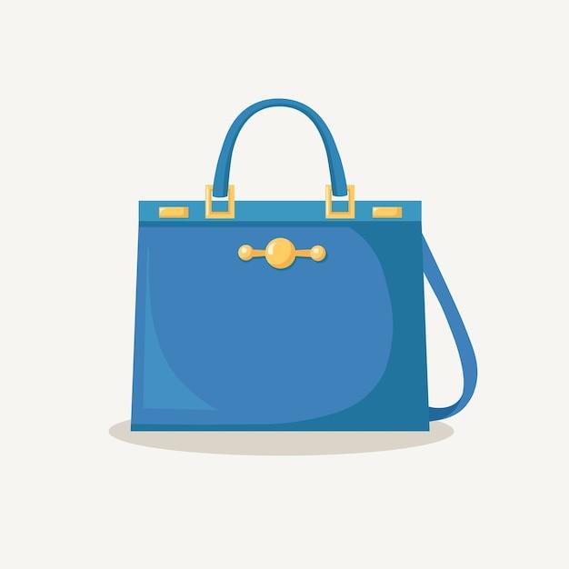 Feminine handbag for shopping, travel, vacation. Premium Vector
