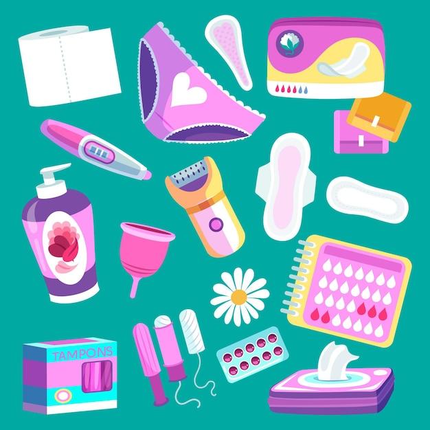 Igiene femminile Vettore gratuito