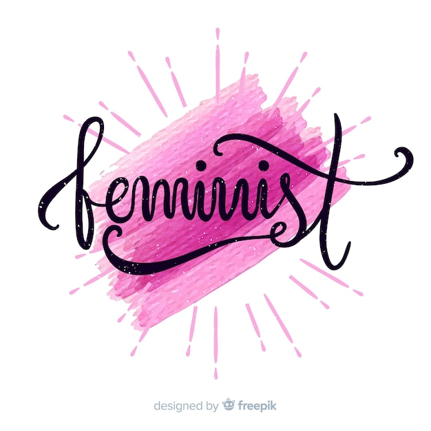 Feminism concept background Free Vector