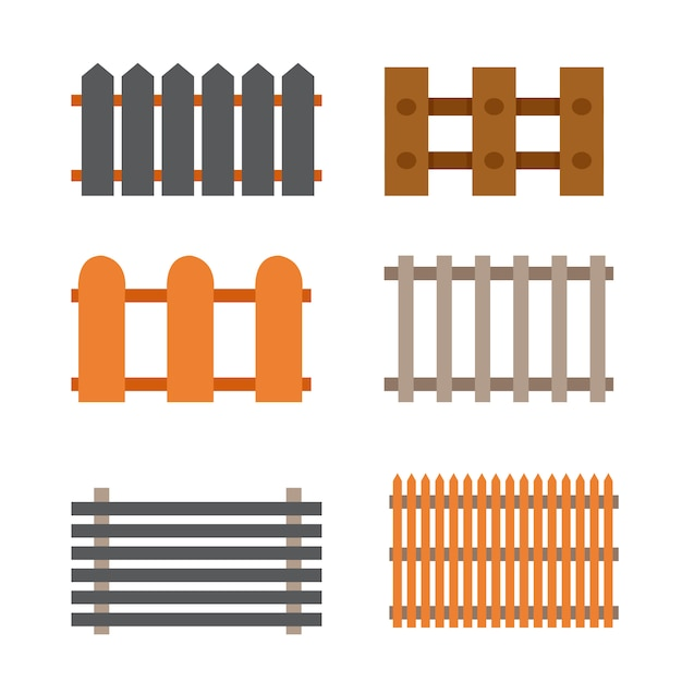 Fence collection design Premium Vector