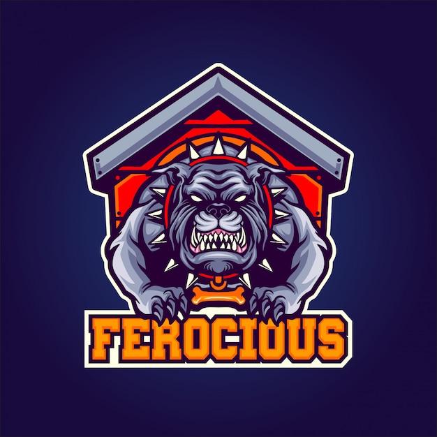 Ferocious dog Premium Vector